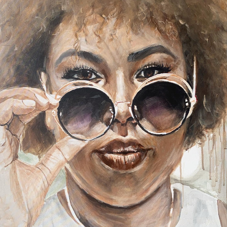 Porträt in Acryl