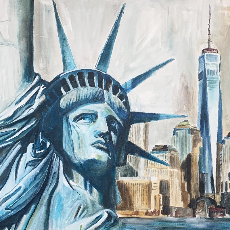 New York Skyline mit Freiheitsstatue
